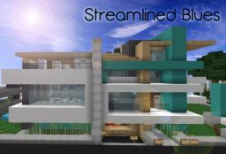 [Modern] Streamlined Blues - Luxury Seaside Home Minecraft Project