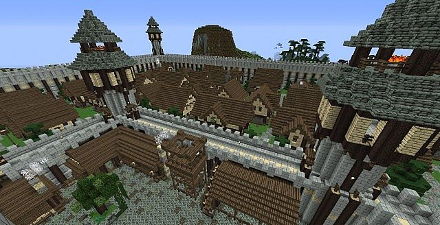 Minecraft Medieval City Download Minecraft - Medieval T...