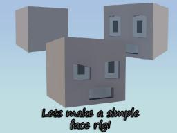 Lets make a simple face rig ~Modeling the face~ Minecraft Blog