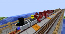Metro train system Minecraft Map & Project
