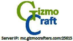 NOW 1.8.1! GizmoCraft! mc.GizmoCrafters.net Minecraft Server