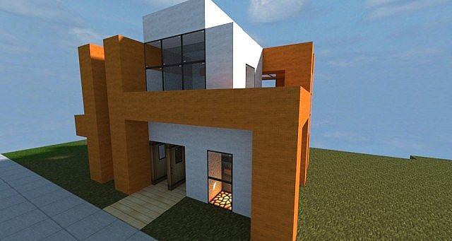 Small modern house minecraft project for Minecraft modern house designs easy