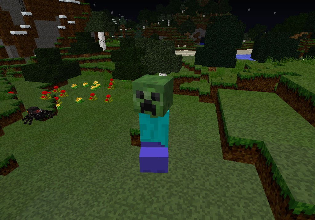 The zombie creeper meets steve minecraft blog - Minecraft creeper and steve ...