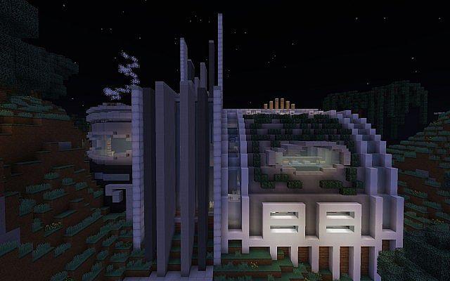 Futuristic Reflect Huge Luxury Mansion Minecraft Project
