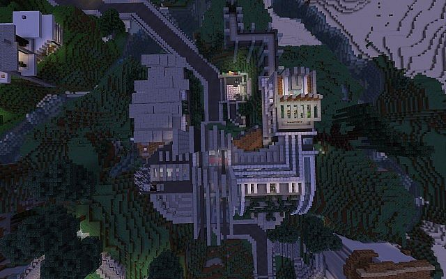 Futuristic Reflect Huge Luxury Mansion Minecraft Project