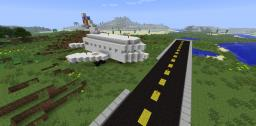 McMinecraft Private Airport - [With Planes, Shops, and Restaurants] Minecraft Map & Project