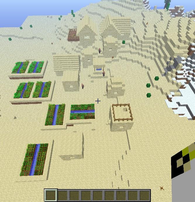 Sandstone Village Minecraft Project