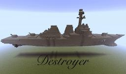 Arleigh Burke class Destroyer Minecraft Map & Project