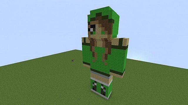Creeper Girl 3d Pixelart Minecraft Project