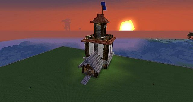 how to make a light tower in minecraft