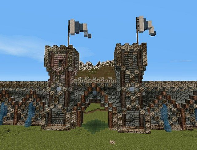 Medieval gate by antroz minecraft project