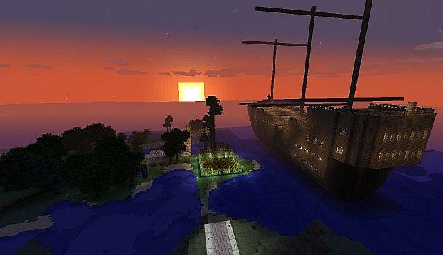 Sunrise in the Survival world