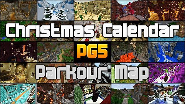 Christmas Calendar Parkour : Parkour map v christmas calendar minecraftpg