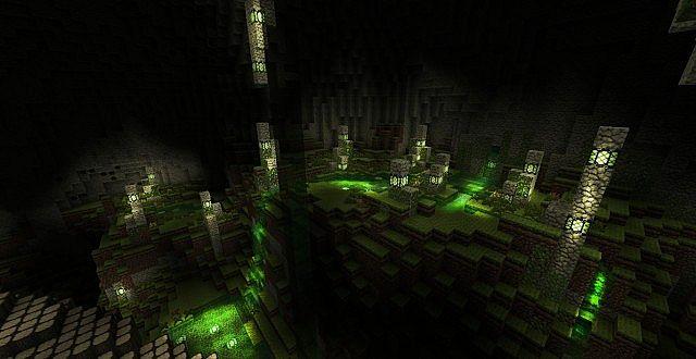 карты для майнкрафт прохождение в пещере #6