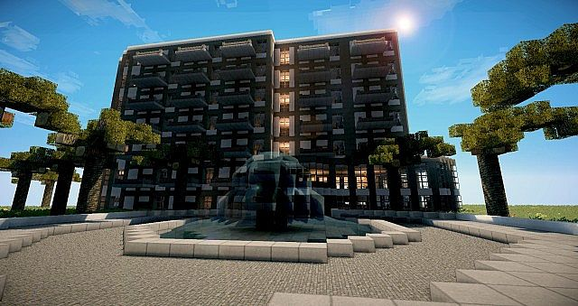 Modern hotel paradise minecraft project for Moderne hotels