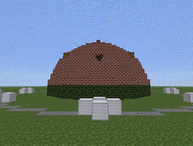 With Glass Dome Minecraft