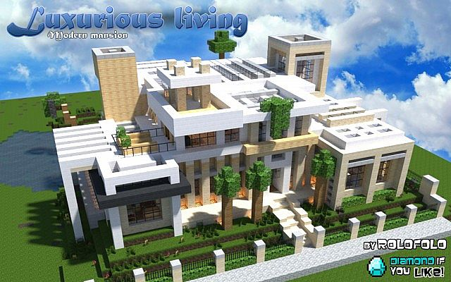 modern luxurious living mansion at 39 wok 39 and 39 minecraft monday youtube vid 39 minecraft project. Black Bedroom Furniture Sets. Home Design Ideas