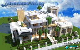 [Modern] Luxurious living mansion (at 'WOK' and  'Minecraft Monday youtube vid') Minecraft