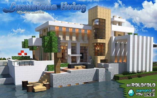 Modern luxurious living mansion at 39 wok 39 and 39 minecraft for Minecraft modern
