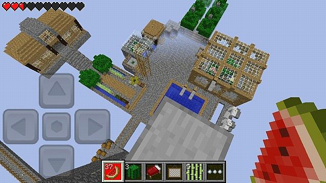 View of Skyblock from ontop my mob drop