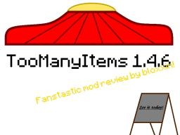 TooManyItems Mod Review 1.4.6 [Now for 1.5.1!] Minecraft Blog Post