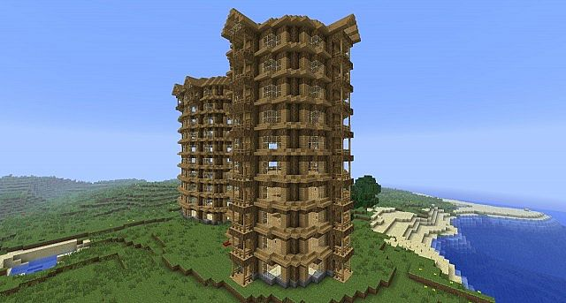 Cool Minecraft City Buildings Buildings City Minecraft Project