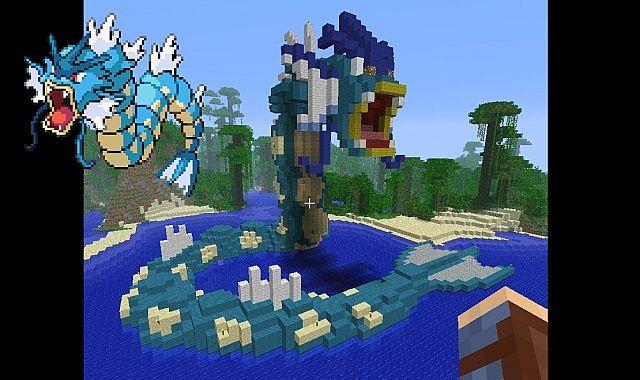 Minecraft- Gyarados by aprilgoddess on DeviantArt