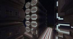 Sci-fi Cube Spaceship and map Minecraft