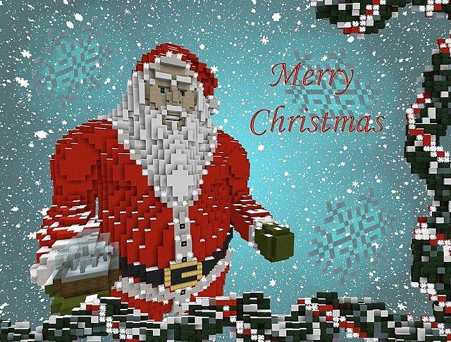 Christmas Minecraft Santa.Christmas Special Santa Claus Minecraft Project