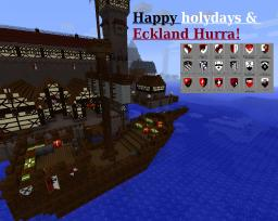 Happy Hollydays and a ship Full of Presents! Eckland Hurra! Minecraft Map & Project