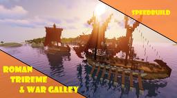 Roman warships | Trireme & War Galley | Speedbuild Minecraft Map & Project