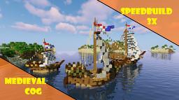 Medieval Cog ships | Speedbuild Minecraft Map & Project