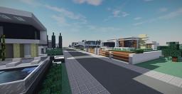 Modern Neighborhood December Minecraft Map & Project