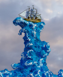 """""""Ship on the Wave"""" Minecraft Map & Project"""