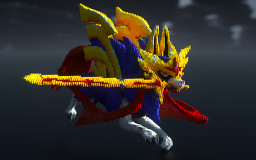 Zacian in minecraft  (Pokemon Sword & shield). Minecraft Map & Project