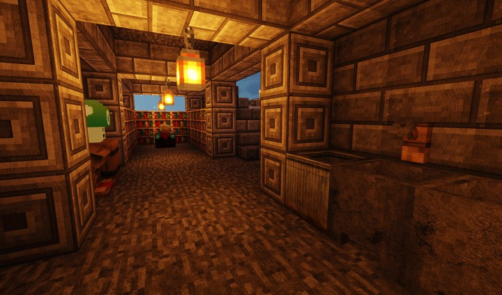 Hallway to enchantment table