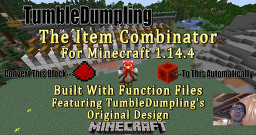 Item Combinator for Minecraft 1.14.4 (Uses Function Files) Minecraft Map & Project