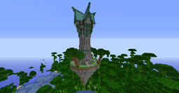 Fantasy tower on floating island Minecraft Map & Project