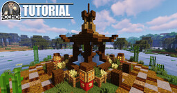 Oriental Fountain + Schematic (extension for oriental house and pagoda tower) Minecraft Map & Project