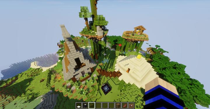 Sneakpeak of floating islands forgot to go gm3 xD