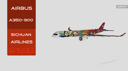 "Airbus A350-900 Sichuan Airlines ""Panda One"" 
