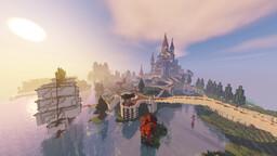 The Castle Of Algheriai (European/Fantasy Style Castle) [Server Build] Minecraft Map & Project
