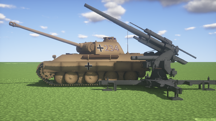 Panther in desert colors both Panther and Flak not included in the newest download