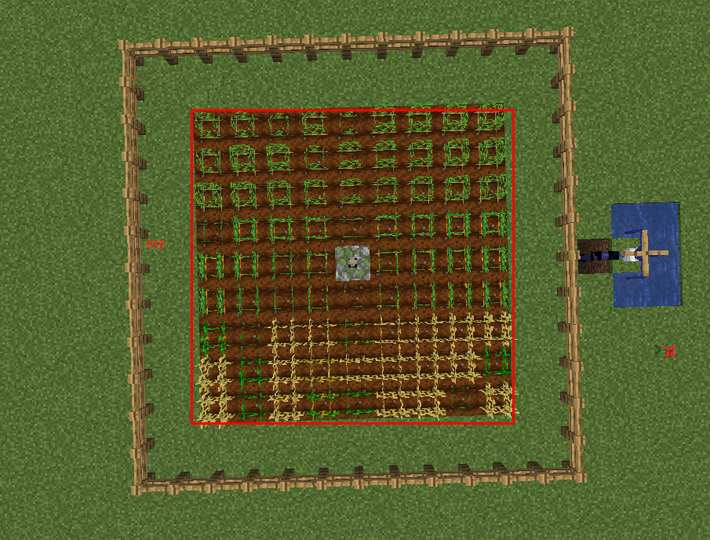 Sprayer waters a 9x9 area and can be connected from below