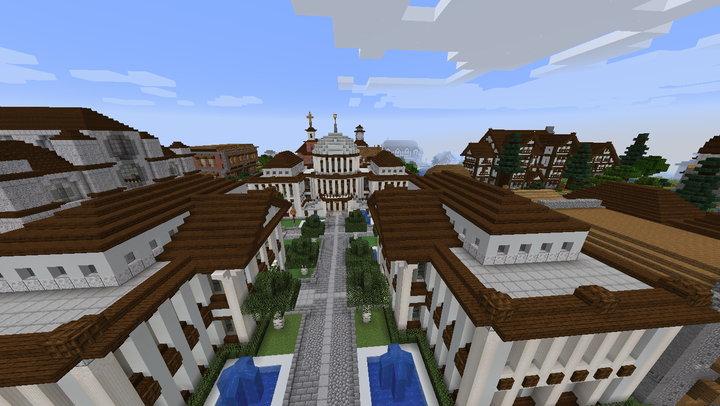 Courthouse and bank added...