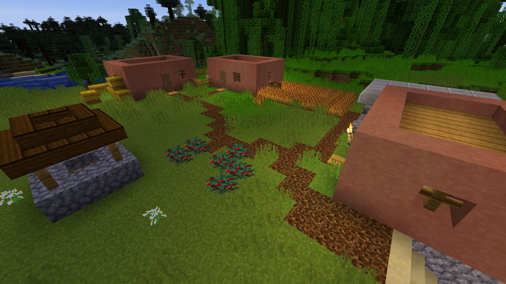 One of the orginal village designs during the first few days of building.