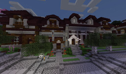 Turtle Bay City Block - Townhouses (Built in 1.14 with World Map download) Minecraft Map & Project