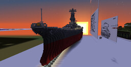 Yamato Class Battleship 2:1 scale. very honourable ship Minecraft Map & Project
