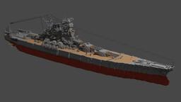 IJN Yamato 1:1 Scale Minecraft Map & Project
