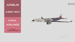 "Airbus A350-900 China Airlines ""Carbon Fiber"" 